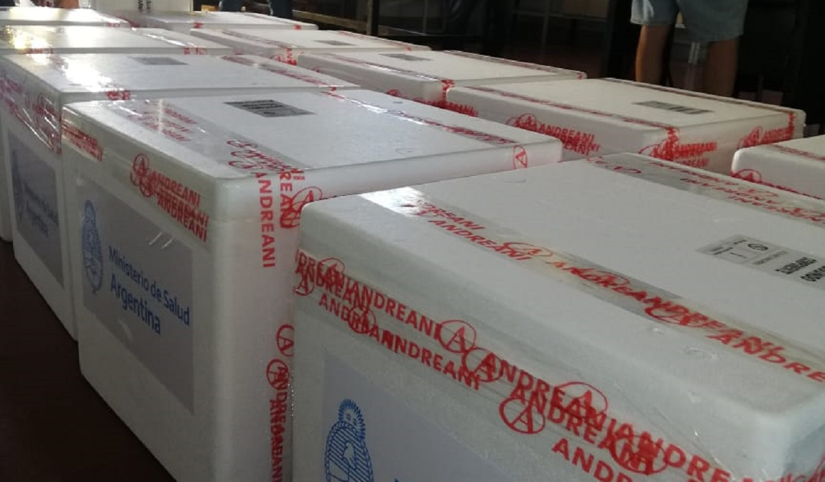 Llegaron a Entre Ríos 12.800 dosis de la vacuna contra el covid-19